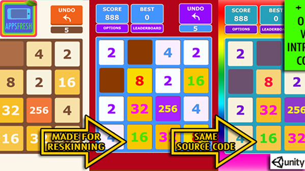 2048 iOS app source code for sale on AppsFresh