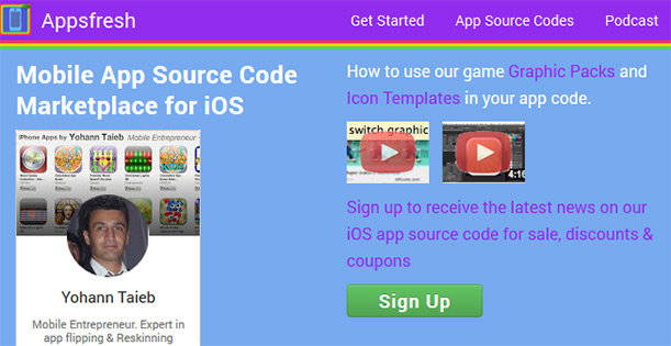 mobile app source code for sale marketplace iOS