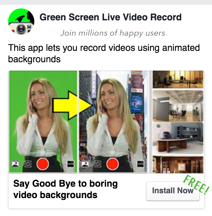 Green Screen App Marketing | Appsfresh